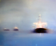 ©Anne Penman Sweet: 'Convoy' oil on canvas 120x150cm