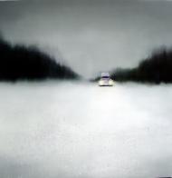 ©Anne Penman Sweet: 'Ice Road' 100x100cm