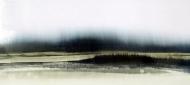 ©Anne Penman Sweet: 'The Island' oil on gesso panel 30x50cm