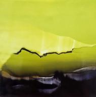 ©Anne Penman Sweet: 'The Island 1' oil on gesso panel 15x15cm