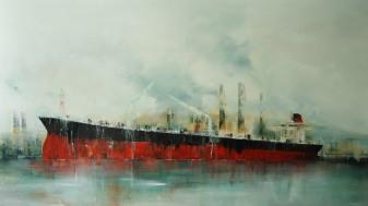 ©Anne Penman Sweet: 'El Nath' oil on canvas 100x180cm