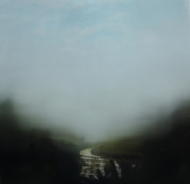 ©Anne Penman Sweet: 'Lostlands 1' oil on gesso panel 30x30cm