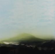 ©Anne Penman Sweet: 'Lostlands III' oil on gesso panel 30x30cm