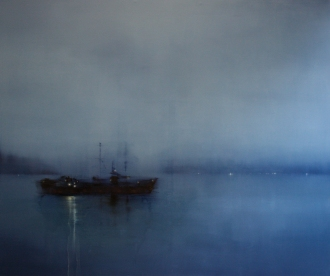©Anne Penman Sweet: 'Midnight (the Ghost Ship) oil on canvas 150x180cm