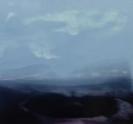 ©Anne Penman Sweet: 'Mysteria 1' oil on gesso panel 15x15cm