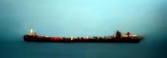 ©Anne Penman Sweet: 'Nyx' oil on canvas 75x190cm